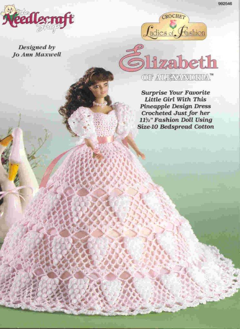 钩针编织的芭比娃娃服装