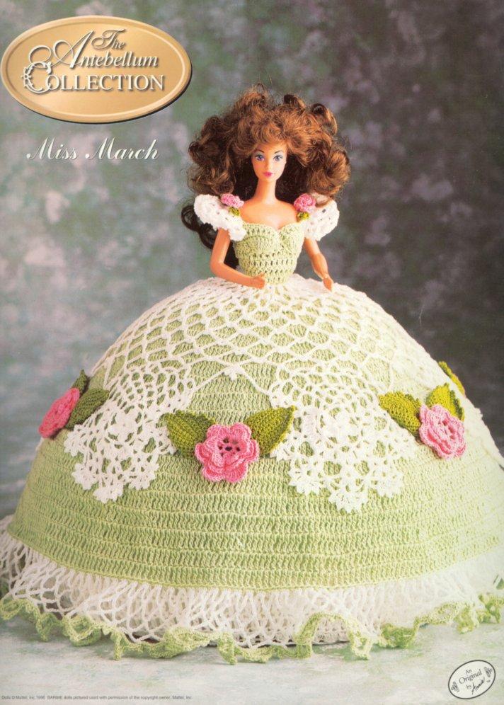 用钩针编织的芭比娃娃服装.