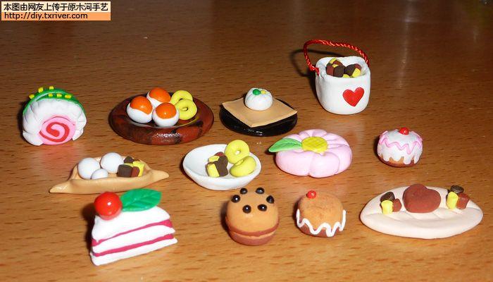 [原创]超轻粘土制作可爱蛋糕,可当娃娃食玩儿
